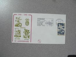 Enveloppe 1985  40 è Anniversaire     Cachet   Royan Charente Maritime - Marcophilie (Lettres)