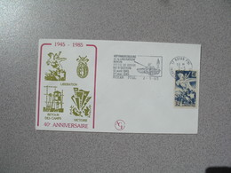 Enveloppe 1985  40 è Anniversaire     Cachet   Royan Charente Maritime - Postmark Collection (Covers)