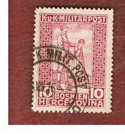BOSNIA ERZEGOVINA (HERZEGOVINA)   - SG 392  -   1916 WAR INVALIDS' FUND: BLIND SOLDIER   -   USED - Bosnia Erzegovina