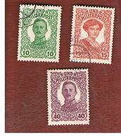 BOSNIA ERZEGOVINA (HERZEGOVINA)   - SG 436.438 - 1918 EMPEROR' S WELFARE FUNDS (COMPLET SET OF 3)  -   USED - Bosnia Erzegovina
