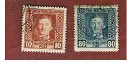 BOSNIA ERZEGOVINA (HERZEGOVINA)   - SG 419.428 - 1918 EMPEROR CHARLES  -   USED - Bosnia Erzegovina