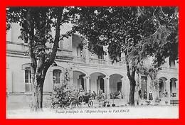 CPA (82) VALENCE-D'AGEN.   Façade Principale De L'hôpital-Hospice, Animé, Bonne Sœur, Voiture Ancienne...D243 - Valence