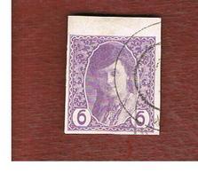 BOSNIA ERZEGOVINA (HERZEGOVINA)   - SG N384 - 1913 NEWSPAPER STAMPS: BOSNIAN GIRL 6  -   USED - Bosnia Erzegovina