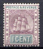 GUYANE BRITANNIQUE - 1889 - N° 70 - 1 C. Violet Et Gris - (Armoiries) - Guyane Britannique (...-1966)