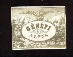 Etiquette De Liqueur  -   Génépi Des Alpes - Etiquettes