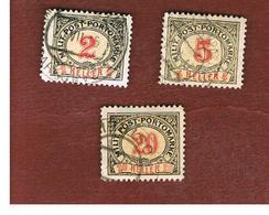 BOSNIA ERZEGOVINA (HERZEGOVINA)   - SG D184.D193  - 1904 POSTAGE DUE STAMPS   -   USED - Bosnia Erzegovina