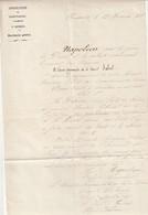 Très Rare Décret De Napoléon à La Préfecture Du Calvados Nomination Secrétaire Général  12 Avril 1858 - Gesetze & Erlasse