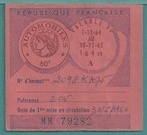VIGNETTE AUTOMOBILE 2 CV  1960 - Voitures