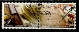 Europa CEPT Grèce - Greece - Griechenland 2008 Y&T N°2434 à 2435 - Michel N°2467A à 2468A (o) - Se Tenant - Europa-CEPT