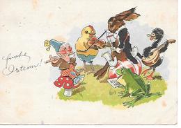Champignon, Funghi, Pilze, Mushroom, Toadstool, Gnome, Gnom, Zwerg, Lutin, Frog, Frosch, Lièvre De Pâques, Saxophone, - Pâques