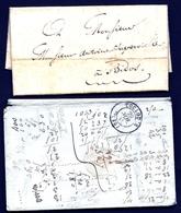 CP 8- 2 LETTRES DONT 1 AVEC LONGUE CORRESPONDANCE 1823 REMISE EN MAIN PROPRE + 1 DE TOULOUSE 1853 - 3 SCANS - 1801-1848: Précurseurs XIX