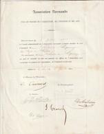 Rare Document Association Normande Pour Le Progrès De L'agriculture 1899 Lodin De Lépinay - Vieux Papiers