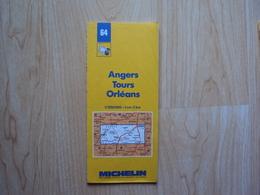 CARTE ROUTIERE FRANCE N° 64 - ANGERS - TOURS - ORLEANS (année 1988) - Cartes Routières