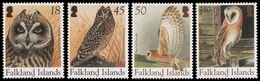 Falkland 2004 - Mi-Nr. 915-918 ** - MNH - Eulen / Owls - Falklandinseln