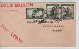 TPA 9-TP 242(2)s/L.Avion Elisabethville En 1946 V.Belgique PR1349 - Congo Belge
