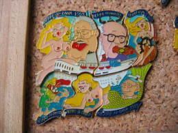 Puzzle De 6 Pin's Du HERRE-N-OWA 1993, ( La Soirée Des Messieurs Au Théâtre Alsacien) ,véritable Institution à MULHOUSE - Pin-ups