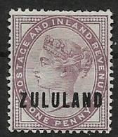 South Africa,   Zululand, 1888, 1d Lilac, MH* - Zululand (1888-1902)