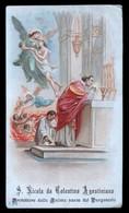 SANTINO ORIGINALE D'EPOCA -  S.NICOLA DA TOLENTINO AGOSTINIANO - HOLY CARD ( H106 ) - Imágenes Religiosas