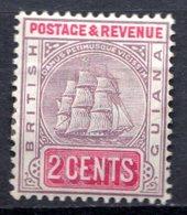 GUYANE BRITANNIQUE - 1891-1902 - N° 81 - 2 C. Violet Et Carmin - (Armoiries) - British Guiana (...-1966)