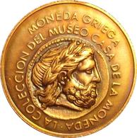ESPAÑA. MEDALLA EXPOSICIÓN MONEDA GRIEGA. CASA DE LA MONEDA 1.992. ESPAGNE. SPAIN MEDAL - Profesionales/De Sociedad