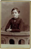 Photo Cabinet. Jeune Garçon,  André Callier.  Gand 1877/1938 (industriel). Foto Schaffers, Gent. - Photographs