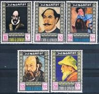 Umm Al Qiwain 1967   -  Michel  198 / 199 + 204 / 205 + 207  ( Usados ) - Umm Al-Qiwain
