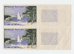 Timbres FRANCE   Variétés  1961 Arcachon 0,30f  N° 1312a  Neuf Avec Colle D'origine - Curiosità: 1960-69  Nuovi