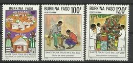 BURKINA FASO 1986 HEALTH FOR ALL MNH - Burkina Faso (1984-...)