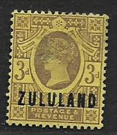 South Africa,   Zululand, 1888, 3d, MH* - Zululand (1888-1902)