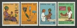 BURKINA FASO 1986 INFANT HEALTH SET MNH - Burkina Faso (1984-...)