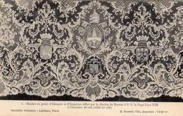 CPA Dentelles Rochet Point Alençon Argentan Bayeux Léon XIII 1887 Jubilé - Arts