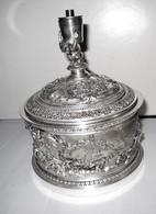 """Bonbonniére Ou Boîte """"argent"""" ...monté En Lampe...estampillé """"OUDIN""""....(vers 1900/1920 !!).....à Voir.......... - Boîtes/Coffrets"""