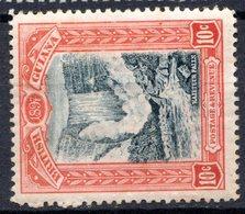 GUYANE BRITANNIQUE - 1898 - N° 91 - 10 C. Rouge Et Bleu-noir - (Chutes De Kaieteur) - Guyane Britannique (...-1966)