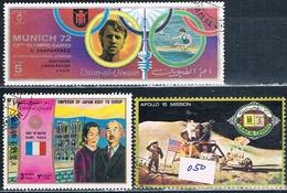 Umm Al Qiwain 1972   -  Michel  568 + 700 + 844  ( Usados ) - Umm Al-Qiwain