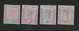 South Africa,   Zululand, 1894, 1/2d, 1d, 2 1/2d, 3d, MH* - South Africa (...-1961)