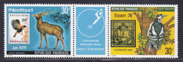 RWANDA AERIENS N°   12 & 13 ** MNH Neufs Sans Charnière,TB (D8967) Timbres Sur Timbres Et Animaux - 1978 - Rwanda