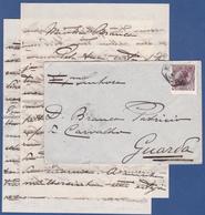 COVER + LETTER - Lisboa Central To Guarda / Cancel - Fev. 1912 - 1910 : D.Manuel II