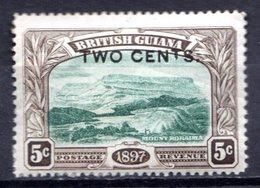 GUYANE BRITANNIQUE - 1899 - N° 93 - 2 C. S. 5 C. Sépia Et Vert - (Mont Roraima) - Guyane Britannique (...-1966)