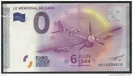 Billet Touristique 0 Euro 2015  Mèmorial De CAEN 6 Juin 1944  épuisé - Essais Privés / Non-officiels