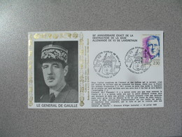 Enveloppe  1993    Le Général De Gaulle  Exposition  Base V3   Cachet Landrethun Le Nord - 1961-....