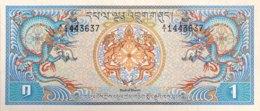 Bhutan 1 Ngultrum, P-5 (1981) - UNC - Bhutan