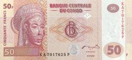 Congo 50 Francs, P-97 (31.7.2007) - UNC - Kongo