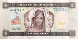 Eritrea 1 Nakfa, P-1 (25.4.1997) - UNC - Eritrea