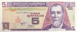 Guatemala 5 Quetzales, P-92 (29.6.1994) - UNC - Guatemala