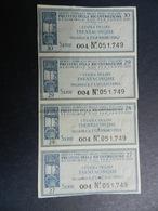 19933)  CEDOLE LIRE 35 PRESTITO RICOSTRUZIONE 4 ATTACCATE - [10] Checks And Mini-checks