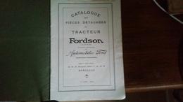 Catalogue De Pièces Détachées TRACTEUR FORDSON - Autres