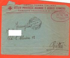 Croce Rossa Vicenza 1945 Busta Vuota Croix Rouge Red Cross - Organizations