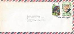 St Vincent 1974 Kingstown Scaly-naped Pigeon Patagioenas Squamosa Princess Anne Wedding Cover - St.-Vincent En De Grenadines