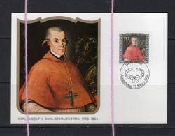 19/5 Liechtenstein Carte Maximum Card Karl Rudolf Buol Schauenstein Eveque De Coire - Religion &  Esoterik