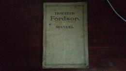 Manuel Du TRACTEUR FORDSON - Autres